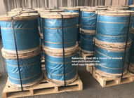 ISO Galvanized Steel Strand For Orchard , Galvanized Steel Cable Packed On Reel