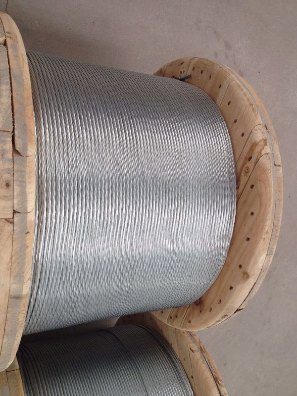 ASTM A 475 Galvanized Stranded Steel Wire For Overhead Fiber Optic Cable