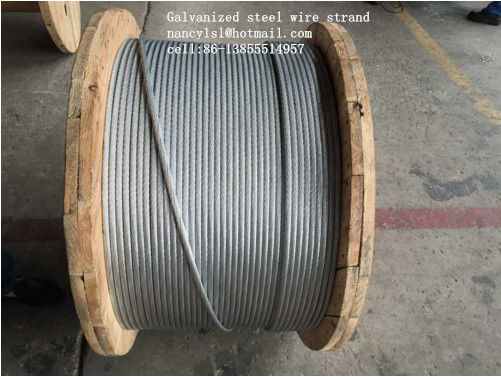ASTM B498 Galvanized Guy Wire , 1*7 1*19 Galvanized Wire Rope With Strong Adhesion